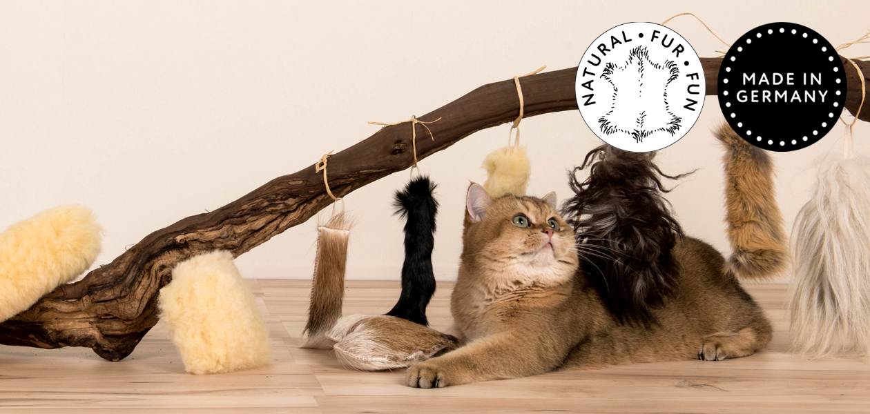 Natural Fur Fun - Katzenspielzeug aus echtem Fell - Made in Germany