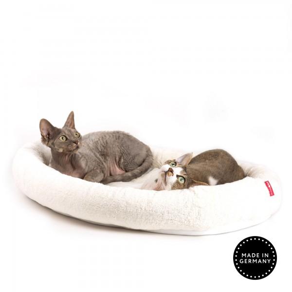 Katzenbett oval mit Klettboden