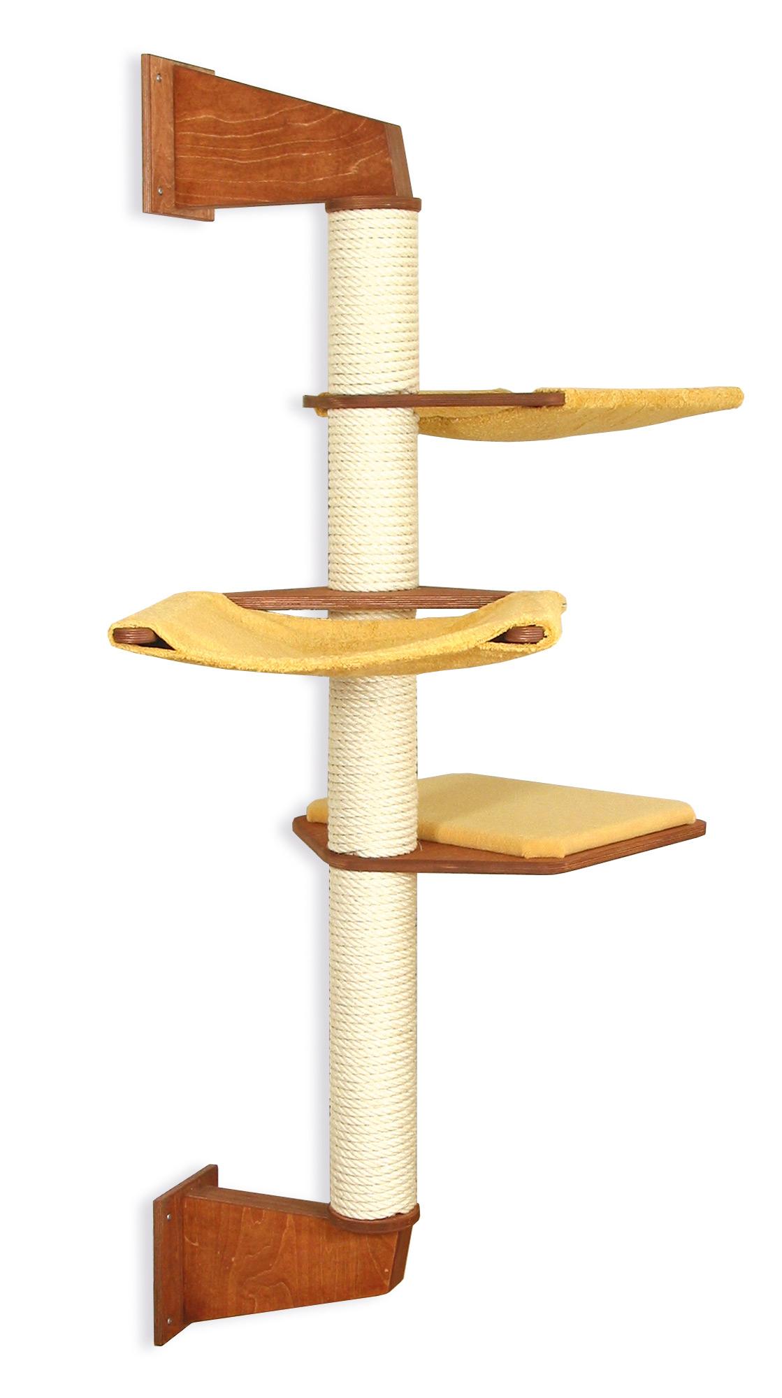 wandkratzbaum f r gro e katzen mit bequemen h ngematten profeline katzenshop. Black Bedroom Furniture Sets. Home Design Ideas