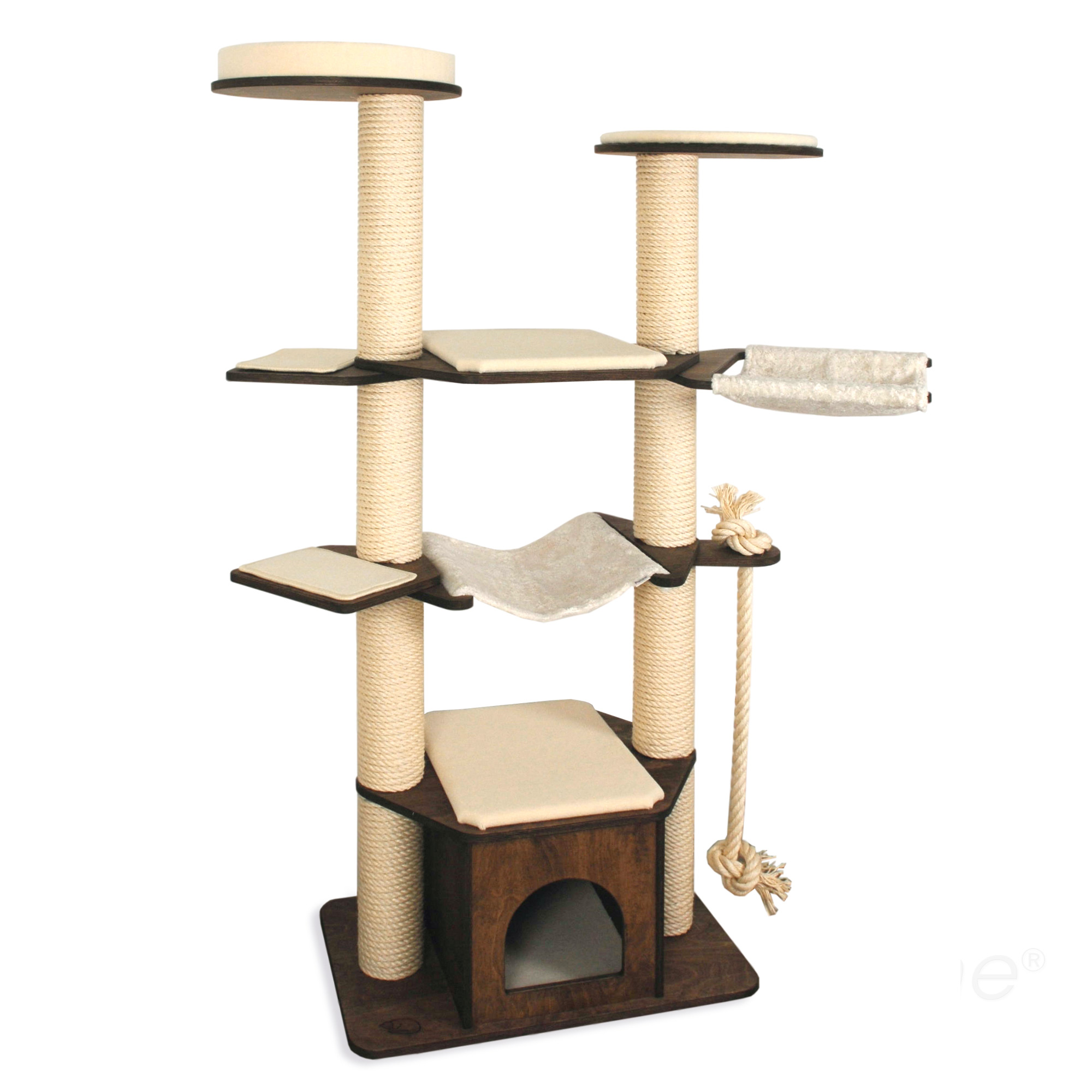 kratzbaum modell vincent 2 stamm kratzbaum kratzb ume. Black Bedroom Furniture Sets. Home Design Ideas