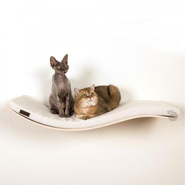 Cosy & Dozy - Katzenliege CatShelf Chill Deluxe Weiss