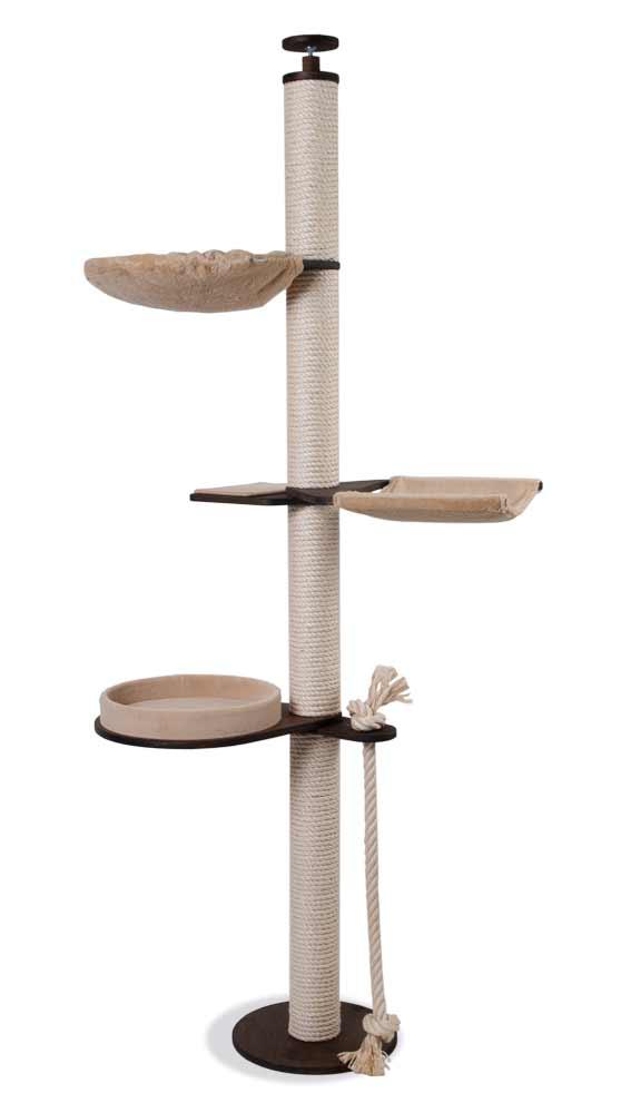 kratzbaum deckenhoch mit h ngematte und liegemulde profeline katzenshop. Black Bedroom Furniture Sets. Home Design Ideas