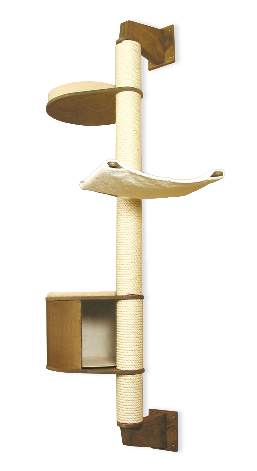 wandkratzbaum in vielen farben natur kirsche eiche und birke profeline katzenshop. Black Bedroom Furniture Sets. Home Design Ideas