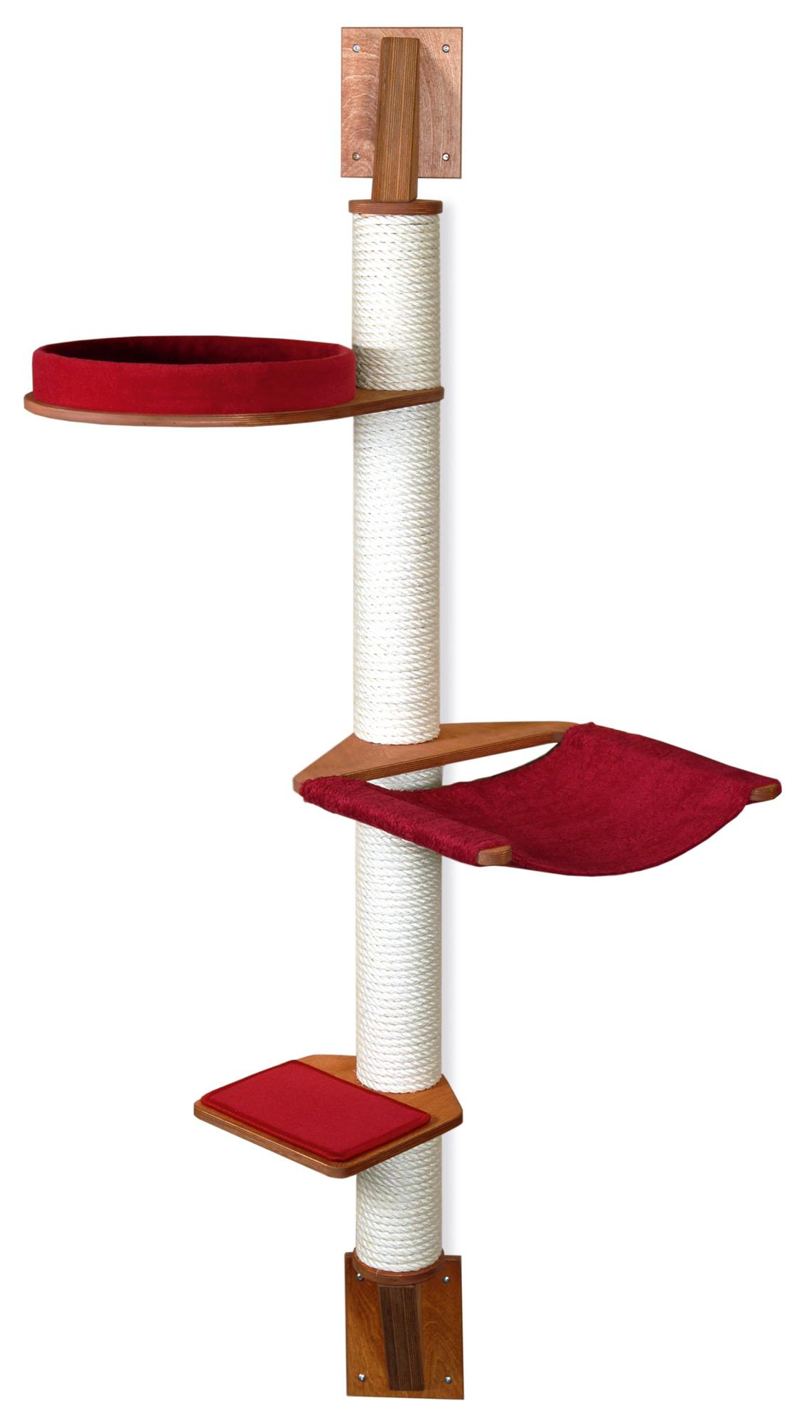 kratzbaum mit geringem platzbedarf zur wandmontage. Black Bedroom Furniture Sets. Home Design Ideas